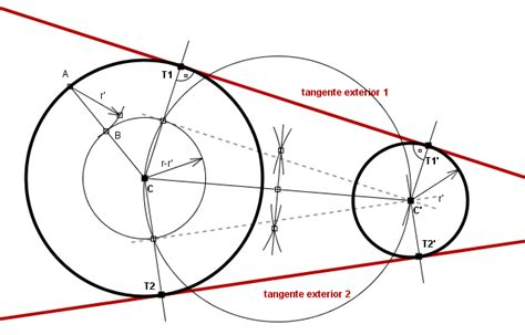 tangentes interiores a dos circunferencias rectas tangentes a dos circunferencias wikillerato