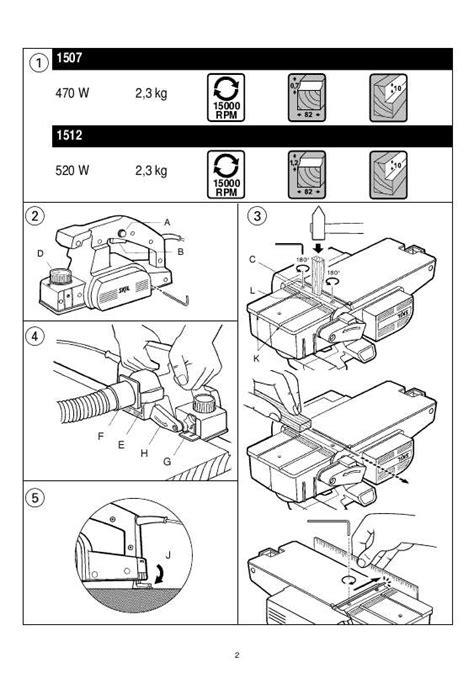 Utiliser Un Rabot électrique by Notice Skil 1512 Rabot 195 169 Lectrique Trouver Une Solution