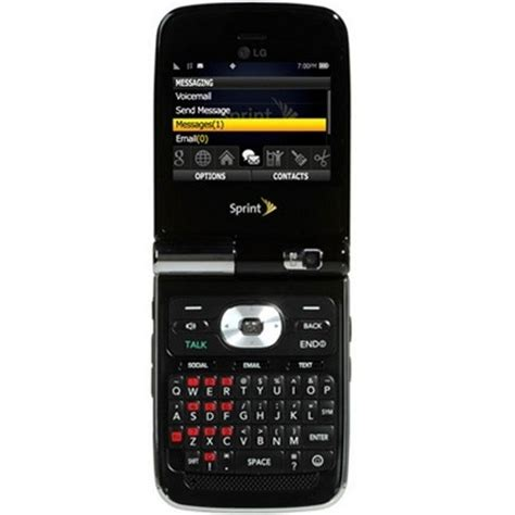 lg lotus elite lx black excellent  sprint keyboard phone  sale