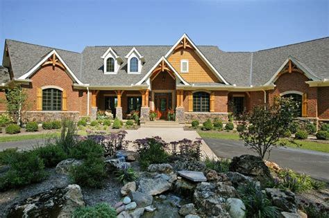 rustic ranch style homes with stone rustic ranch style custom ranch rustic exterior cincinnati by robert