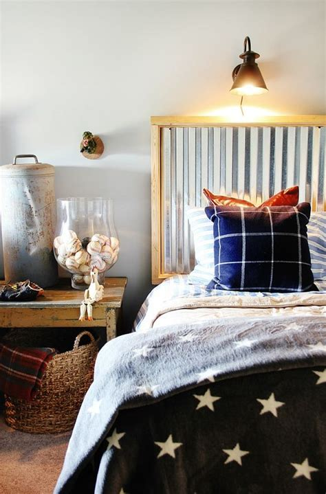 Corrugated Tin Headboard by 28 Unique Metal Headboards That Are Worth Investing In Shelterness