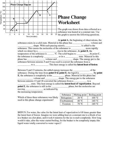 Changes In Society Worksheet Answers by 13 Best Images Of Phase Change Worksheet Middle School