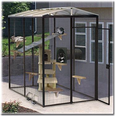 Garage Dog Kennel by Suncatcher Outdoor Cat Enclosures Note From A Housewife