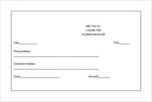 Drive Receipt Template by Taxi Receipt Template 6 Free Sle Exle Format