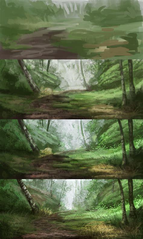 Landscape Digital Tutorial Steps Of Landscape Studies 091 By Noukah On Deviantart
