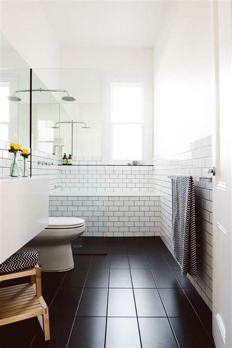 Black Bathroom Floor Tiles 34 Black Bathroom Floor Tile Ideas And Pictures