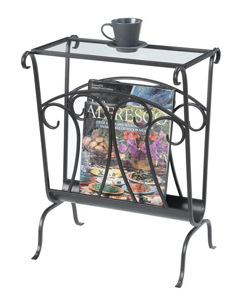 wrought iron glass end table wyoming wrought iron glass top end table 227245