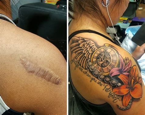 tattoo on scar 10 amazing scar cover up tattoos part 7