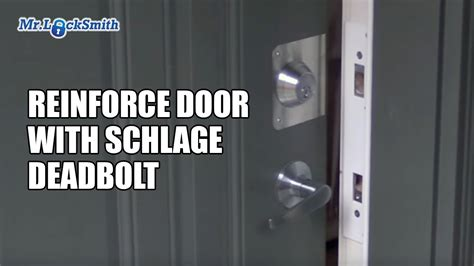 Install Deadbolt Metal Door by Reinforce Door With Schlage Deadbolt Installation Mr