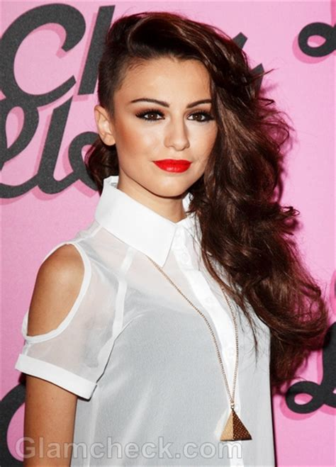Cher Lloyd Hairstyles by Cher Lloyd Side Swept Hair And Makeup