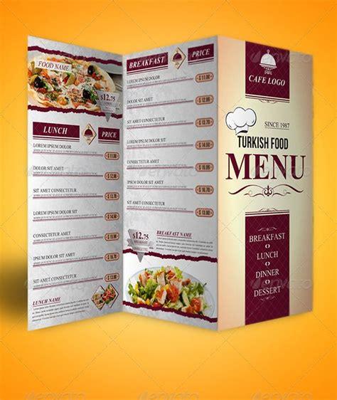 tri fold restaurant menu templates trifold menu template food menus restaurant food menus graphic designs pinterest food