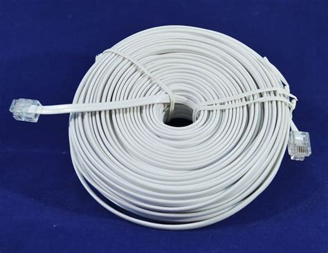 100 ft rj11 cable 100ft rj11 modular telephone extension cord wire line
