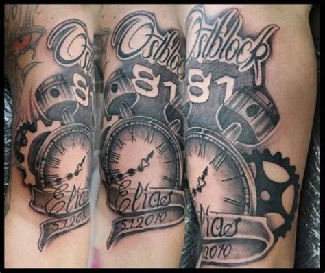 Motorrad Tacho Tattoo by Die Besten Kolben Tattoo Ideen Auf Pinterest