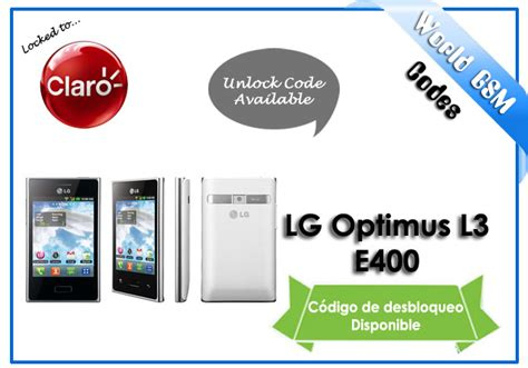 Lg L Bell theunlock unlock claro lg optimus l3 e400 to use with