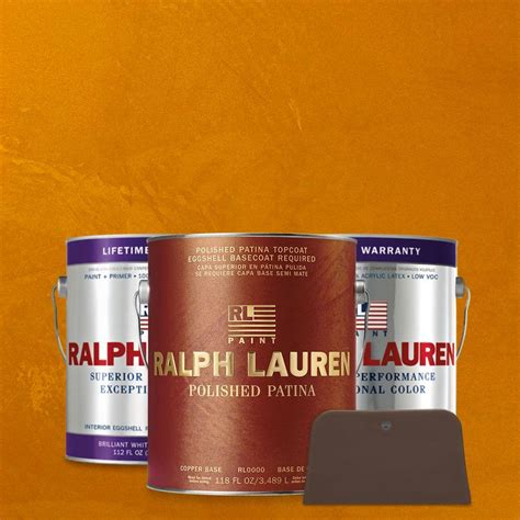 ralph 1 gal imperial topaz copper polished patina interior specialty paint kit pp102 01k
