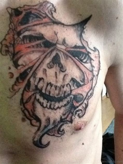devil design tattoo 70 stunning skull tattoos on chest