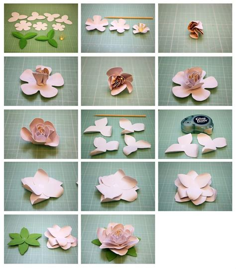 gardenia paper flower tutorial bits of paper begonia and gardenia 3d paper flowers