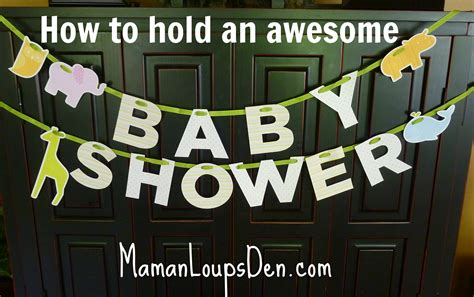 Where To Hold A Baby Shower how to hold an awesome baby shower