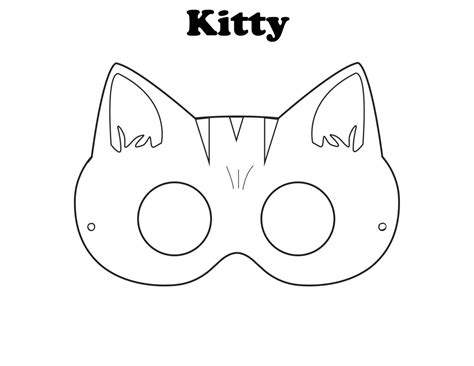 image gallery kitty mask coloring