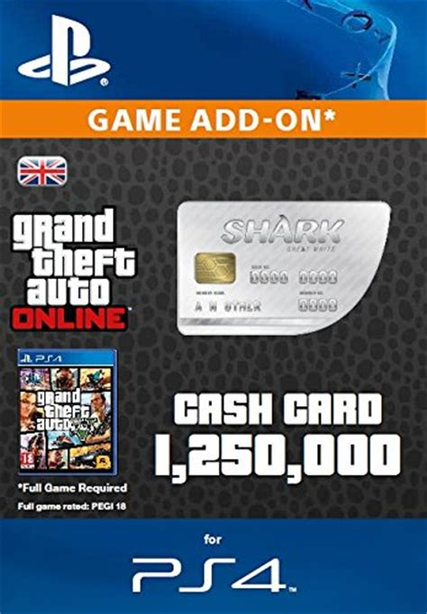 Ps4 50 Dollar Gift Card - grand theft auto online great white shark cash card ps4 psn code uk account we