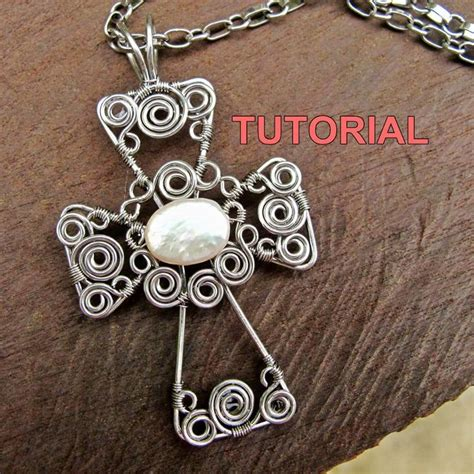 patterned wire for jewelry tutorial wire wrapped cross pendant by wirebliss craftsy