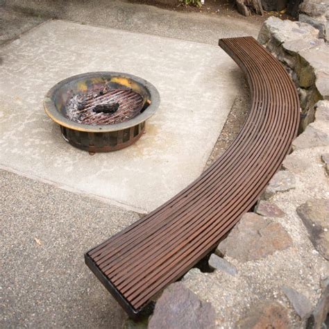 curved benches for fire pits 42 backyard and patio fire pit ideas