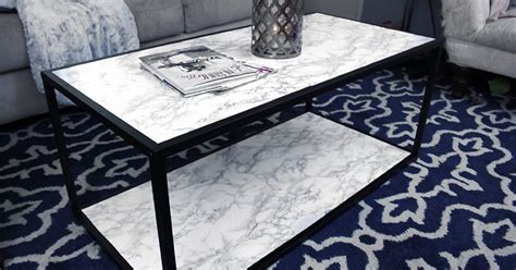 diy faux marble coffee table makeover tutorial hometalk