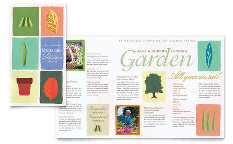 nursery brochure templates free garden landscape design brochure template design