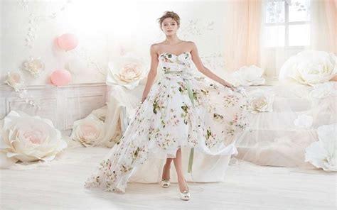 abiti sposa fiori vestiti da sposa a fiori 2018 fotogallery donnaclick
