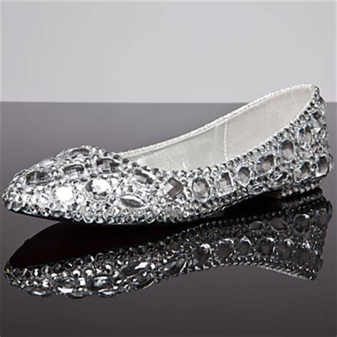 Silver Dress Flats For Wedding by S Shoes Flat Heel Comfort Toe Closed Toe Flats
