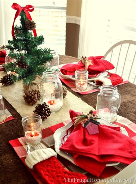 Frugal Home Decorating natural amp woodland christmas tablescape