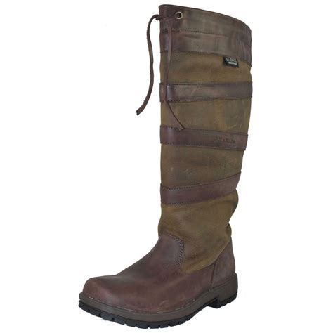 leather boots kanyon rowan waterproof leather country boot brown