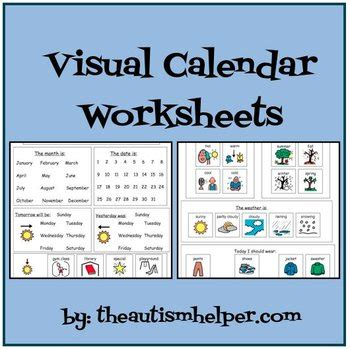 special education worksheets visual calendar worksheets for students with autism or special education calendar worksheets