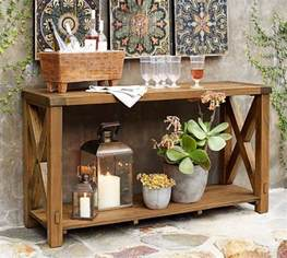 benchwright outdoor console table pottery barn