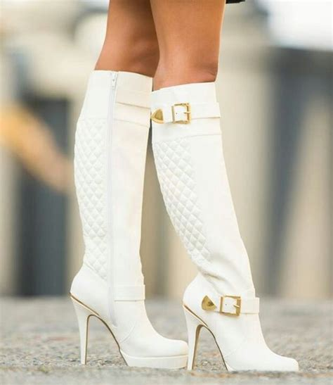 white high heel booties white high heel boots i these 鈾モ姳鈺 箵喔勶划喙 飩喔刲l抓