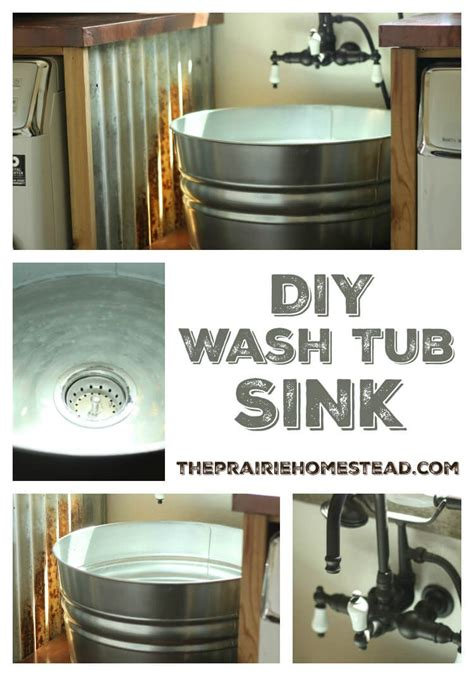 laundry room tub sink diy galvanized tub sink farmhouse laundry rooms laundry