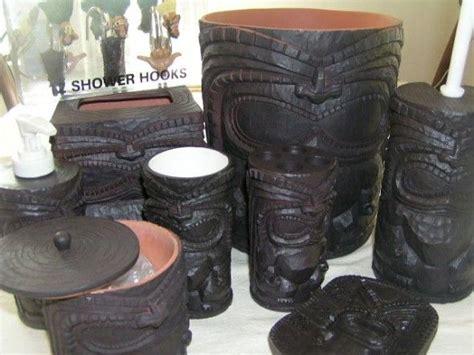 tiki hawaii bathroom accessories hawaii home pinterest