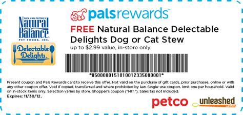 printable natural balance dog food coupons free natural balance delectable delights dog or cat stew