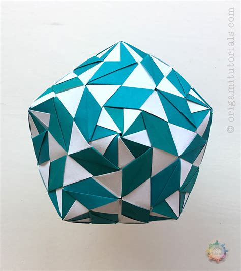Origami Definition - origami chandelle kusudama by sinayskaya diagram