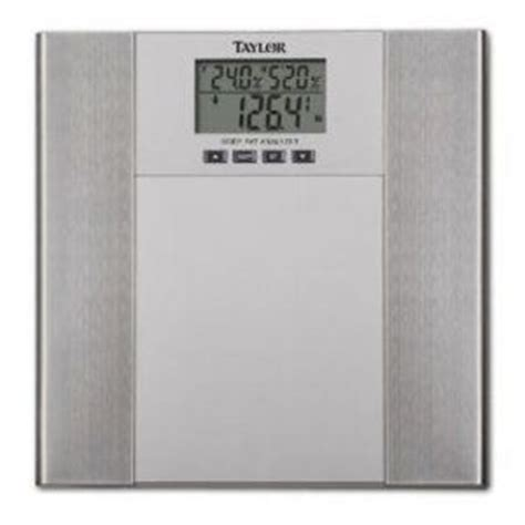 taylor bathroom scale manual taylor biggest loser body fat scale 5568fbl reviews