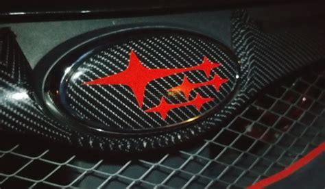 jdm subaru emblem 2015 2018 wrx sti reflective carbon fiber jdm