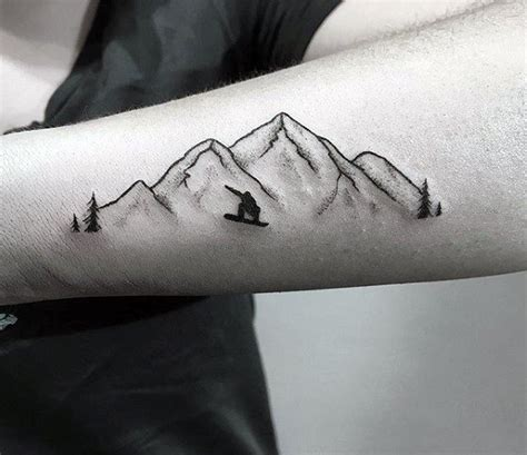 snowboard tattoo designs 60 sports tattoos for athletic design ideas