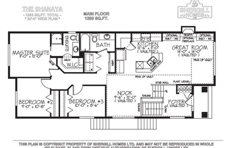 bi level house plans the shanaya 1293 sq ft bi level shergill homes