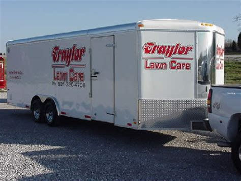 enclosed landscape trailers specialty trailers