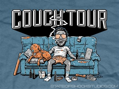 couch tour inside the rock poster frame blog darin shock couch tour