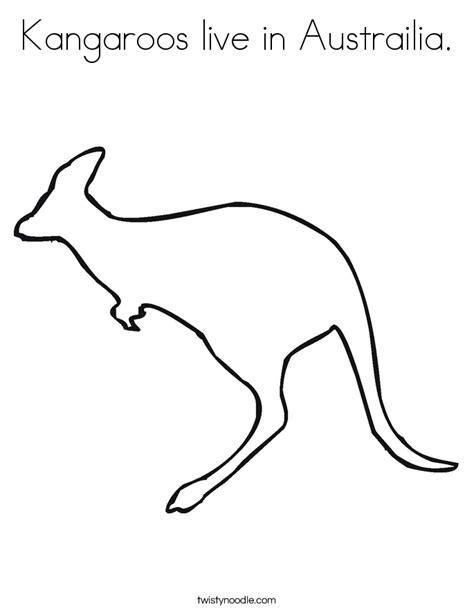 red kangaroo coloring page kangaroos live in austrailia coloring page free coloring