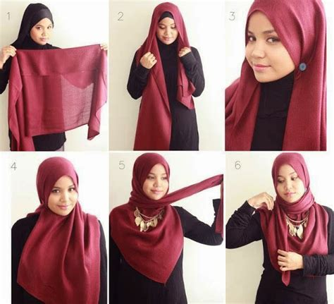 tutorial hijab joya 2015 hijab vintage red hijab tutorial 2015 with necklace
