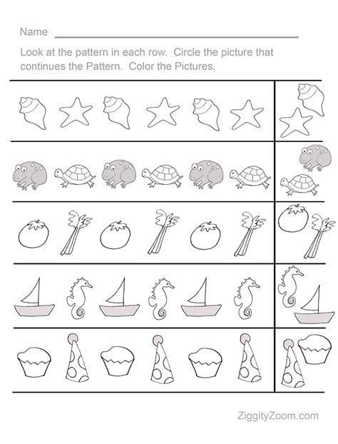 pattern activities for early childhood fun pattern sequence pre k worksheet 1 activities for