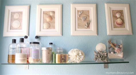 diy beach bathroom diy framed shell art