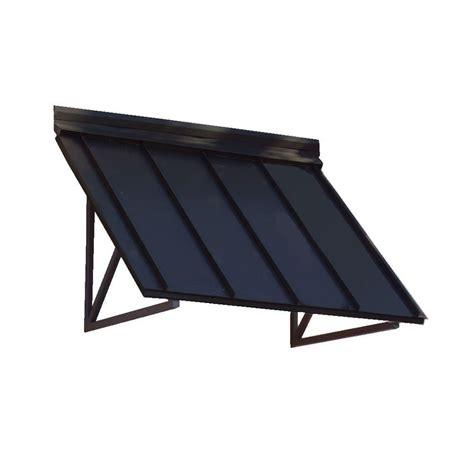 standing seam awning beauty mark 8 6 ft houstonian metal standing seam awning 104 in w x 24 in h x 36